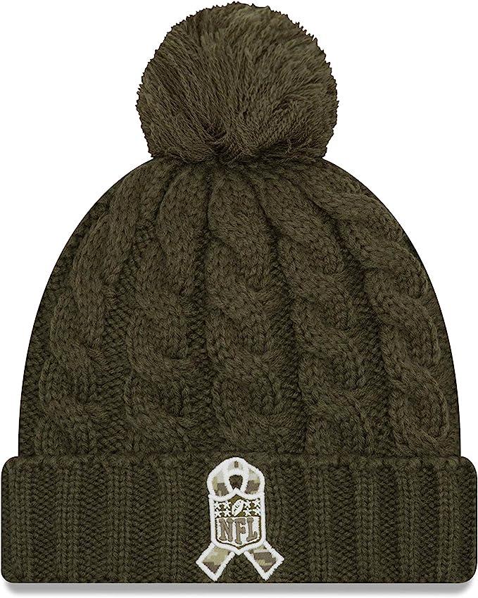 New Era Women 2018 Salute to Service Sideline Cuffed Knit Hat Olive