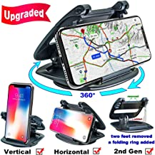 Cell Phone Holder for Car Dashboard, (2nd Gen) Car Phone Mount Silicone Dash Pad, GPS Holder Car Phone Mounting in Pickup Truck Compatible iPhone Xs Max XR X 6S 7 8 Plus Samsung Galaxy Note 9 S9 Pixel