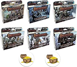 Pathfinder Bundle of All 6 Adventure Card Game Rise of The Runelords Expansion Decks Plus 2 Treasure Chest Buttons