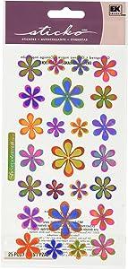 Sticko Sticker Themed-Funky Flowers SPOP07, Other