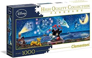 Clementoni 39449 Disney Classic Puzzel Mickey & Minnie 1000 stukjes, hoge kwaliteit panorama, behendigheidsspel voor het g...