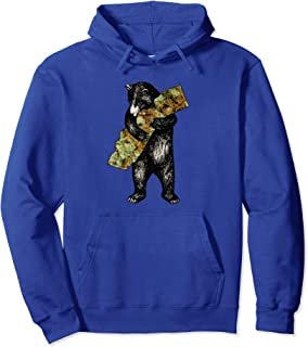 Marijuana I Love California Weed Shirt Art-Retro Cali Bear Pullover Hoodie