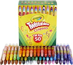 Crayola Mini Twistables Crayons, Amazon Exclusive, School Supplies, Great For Coloring Books, 50Count
