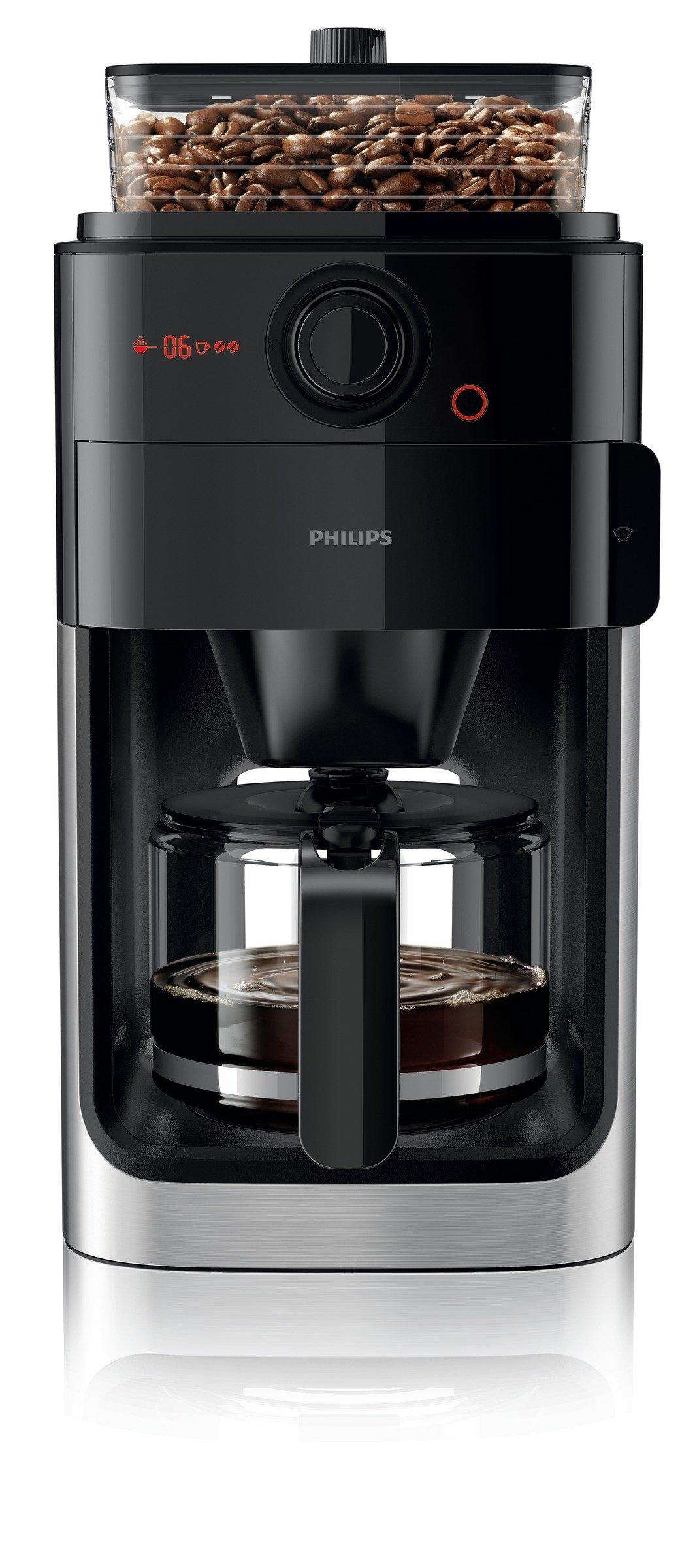 Philips Grind & Brew - Cafetera de goteo con contenedor para moler café, capacidad 15 tazas, 1,2 l: Amazon.es: Hogar