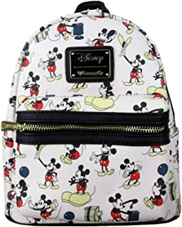 Loungefly x Mickey Mouse Poses All-Over Print Mini Backpack