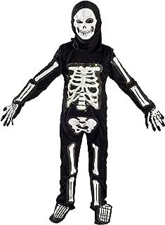 Skeleton Costume for Boys Kids Light up Halloween Size M (5-7) L (6-9)