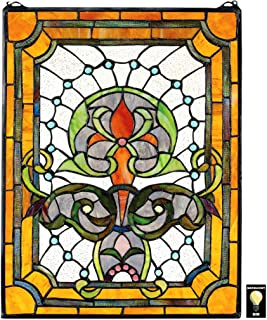 Stained Glass Panel - Kendall Manor Stained Glass Window Hangings - Window Treatments