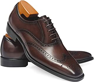 Men's Dress Shoes Classic Leather Business Oxfords Formal Dress Shoes for Men