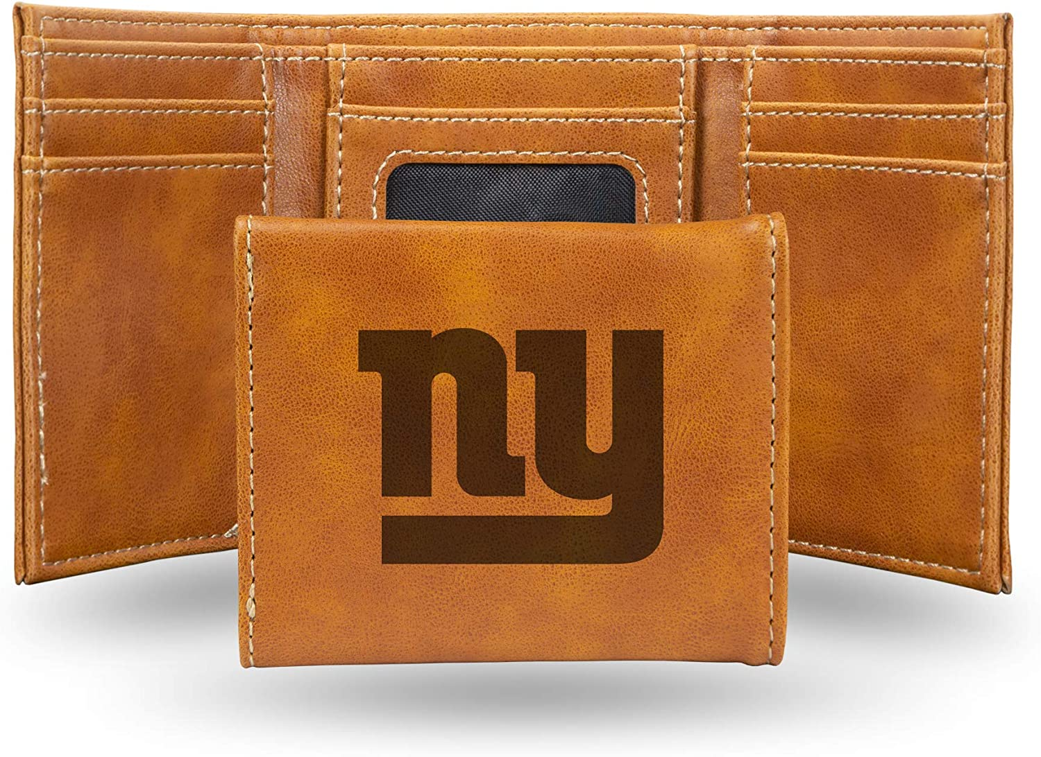 Award NFL Rico Max 70% OFF Industries Laser Engraved York Trifold Gian Wallet New