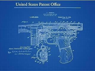 Thompson Tommy Breech Mechanism Gun 1922 Detail Patent Extra Large XL Wall Art Poster Print