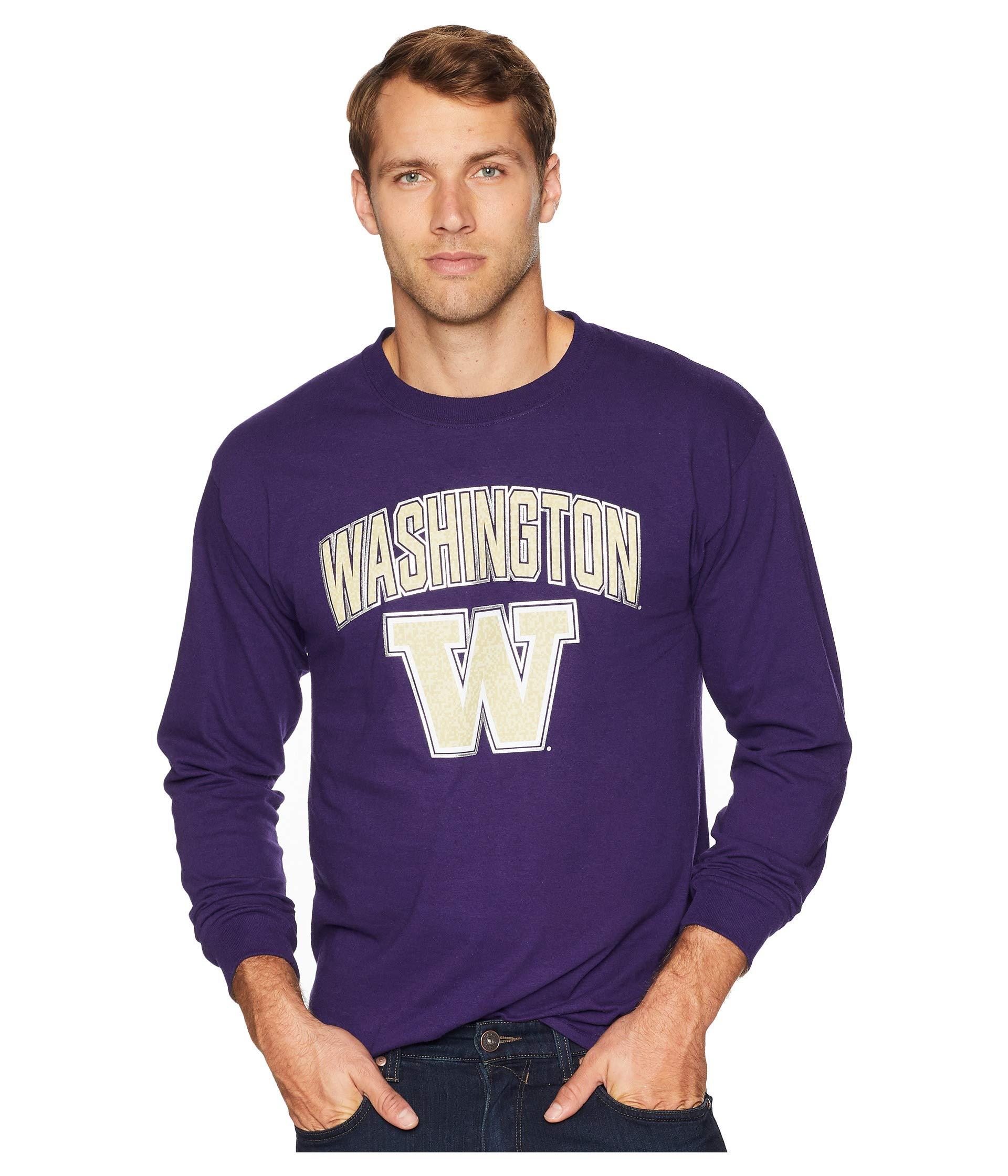 Jersey Long Tee Washington Huskies Purple Champion College Sleeve XaPffx