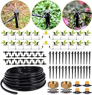 HIRALIY 91.8/28m Drip Irrigation Kits 8x5mm Blank Distribution Tubing Plant Watering System DIY Saving Water Automatic Irr...