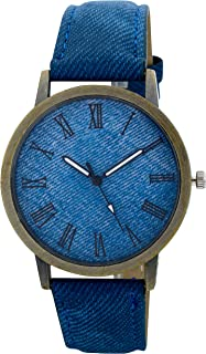 Wrist Watches for Women, Blue Leather strap