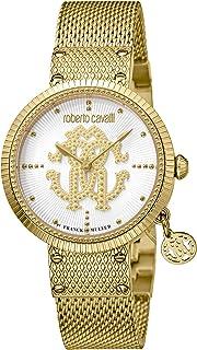 ROBERTO CAVALLI Women's RC-57 Swiss Quartz Watch with Gold Tone Strap, 16 (Model: RV1L062M0066)