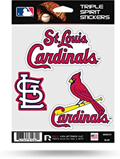 St Louis Cardinals Triple Sticker Multi Decal Spirit Sheet Auto Home Baseball