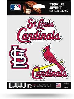 St Louis Cardinals Triple Sticker Multi Decal Spirit Sheet Auto Home Baseball