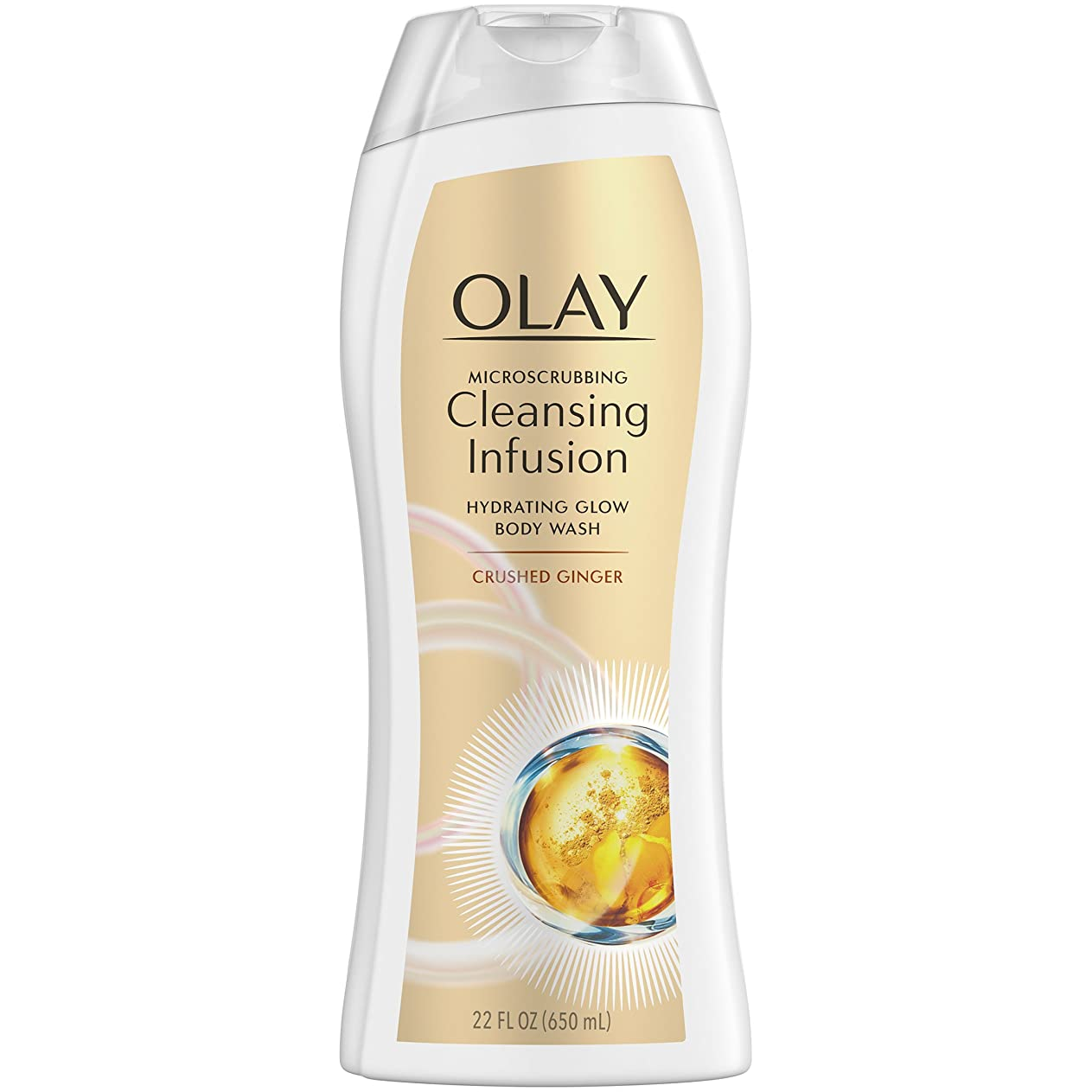 Olay Microscrubbingクレンジング注入ボディウォッシュ、砕石ジンジャー、22オンス