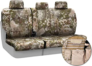 Coverking Rear 60/40 Bench Custom Fit Tactical Seat Cover with Integrated Molle Storage for Select Ford Models - Cordura Ballistic (Kryptek Highlander Camo)