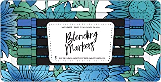 American Crafts 343252 Blending Markers, Blue Green