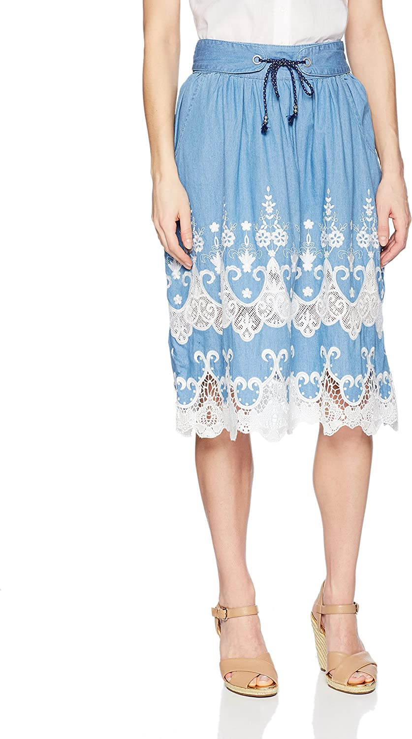 Desigual Women's bluees Explosion Knee Length Skirt