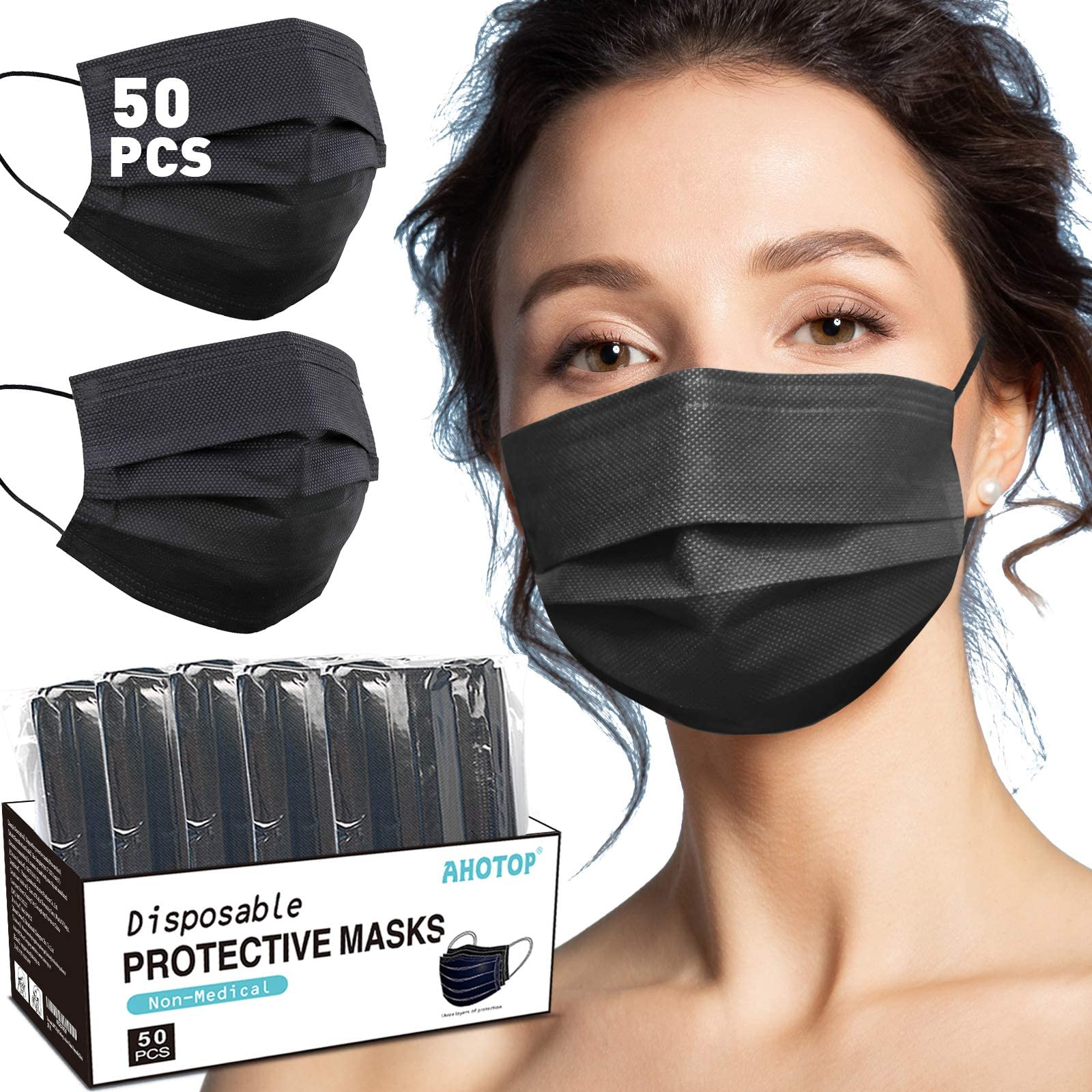 Danzig black  non medical grade 100/% cotton One size adult face cover