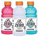Gatorade G Zero 3 Flavor Variety Pack, 12 Ounce, 18 Count