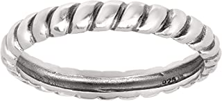 Silpada 'Belle Fleur' Twisted Stacking Ring in Sterling Silver