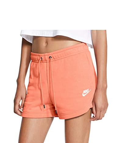 Nike NSW Essential Shorts French Terry (Crimson Bliss/White) Women