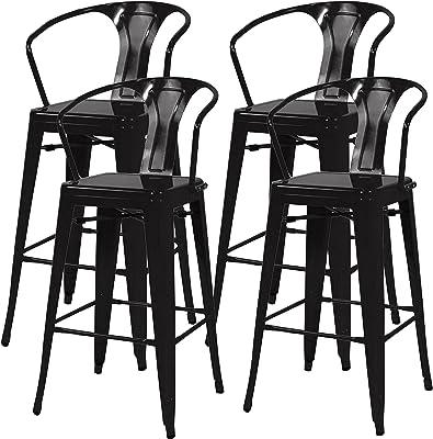 Pleasant Amazon Com 30 Industrial Metal Bar Stools Set Indoor Bralicious Painted Fabric Chair Ideas Braliciousco