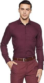 Peter England Men's Plain Slim Fit Formal Shirt