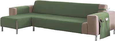 Martina Home Betta - Couvre-Chaise Longue Bras Gauche Chaise Longue 240 CM Vert