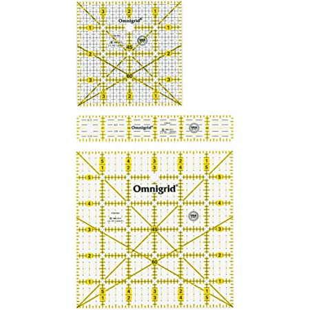 8-1//2 Inch x8-1//2 Inch Omnigrip Neon Quilters Ruler
