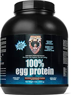 Healthy 'N Fit 100% Egg Protein- Chocolate (4lb): 100% Egg White Protein Plus Natural Peptides. The Highest Quality, Purest, Most Effective, All Natural Protein.