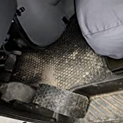 Intro-Tech OS-124F-RT-C Hexomat Front Row 2 pc Clear Rubber-Like Compound Custom Fit Auto Floor Mats for Select Oldsmobile Cutlass Models