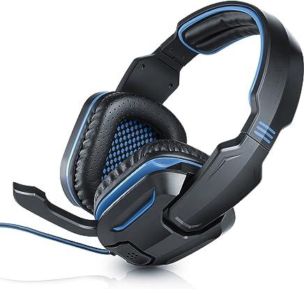 CSL – Cuffie USB con microfono per PC Mac Linux | Suono surround virtuale 7.1 | Microfono pieghevole | Telecomando a cavo (controllo volume + microfono ON/OFF) | Nero/blu | Cavo lungo circa 1,8 m - Trova i prezzi più bassi