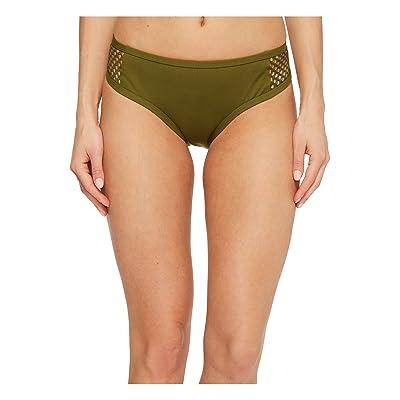 Jantzen Mesh Solids Boogie Retro Bikini Bottom (Olive Me) Women
