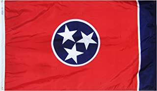 Annin Flagmakers Model 145160 Tennessee State Flag 3x5 ft. Nylon SolarGuard Nyl-Glo 100% Made in USA to Official State Design Specifications.