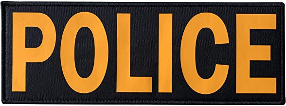 11.0 X 4.0 Miltacusa Reflective Police Back Panel Hook Patch