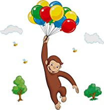 RoomMates Curious George Peel and Stick Giant Wall Decal