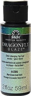 FolkArt 44384 Dragonfly Glaze Multi-Surface Paint, Blue-Green-Gold