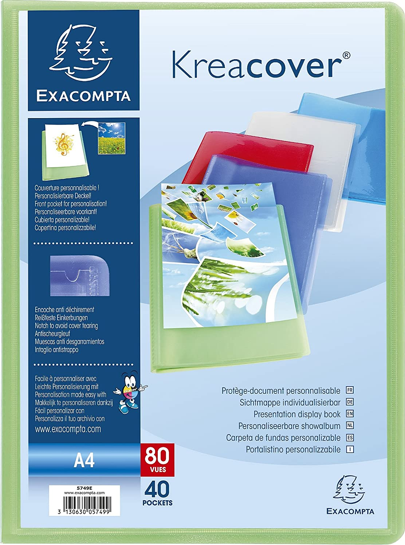 Exacompta Kreacover Semi-Rigid Over item handling ☆ PP Display Book Pockets Columbus Mall - 40 A4