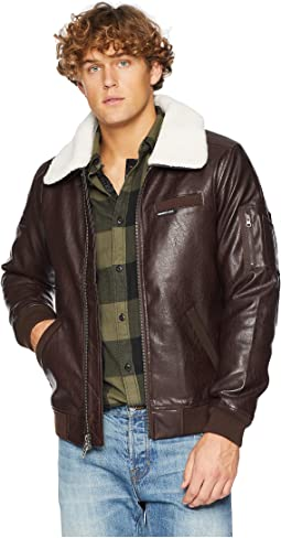Distressed Aviator Jacket