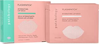 Patchology FlashPatch Hydrating Lip Gels to Moisturize Dry, Dehydrated Lips - w/ Peptides, Green Tea, Niacinamide - 5 Gels/ Box