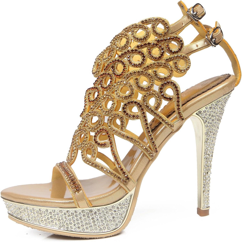 Sandaler, vårmodeskor, skor, skor med öppen tå, Rhinetone Rhinetone Rhinetone Crystal Sparking Glitter Buckle Chain for Dress Party  nya exklusiva high-end