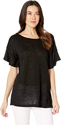 Ella Flutter Sleeve Scoop Neck Top