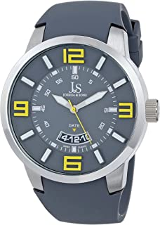 Joshua & Sons Men's Analogue Display Sporty Quartz Watch with Silicone Strap