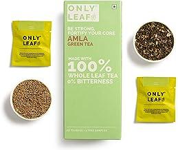 Onlyleaf Amla Green Tea,  27 Tea Bags (25 Tea Bags + 2 Free Exotic Samples )