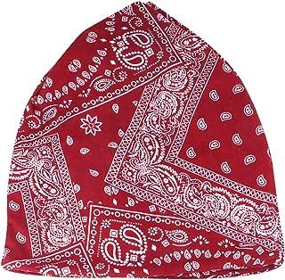 ABOOFAN Cashew Pattern Headwear Cotton Headscarf Fashion Sun Cap Soft Maternity Hat for Men Women Decoration (Dark Red)