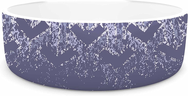 KESS InHouse Just L No Yd Purp  Lavender Vector Pet Bowl, 7