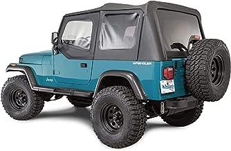 Whitco 35111115 Black Denim Jeep 88-95 YJ Wrangler Soft Top With Door Skins